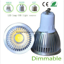 Dimmable 3W White GU10 COB LED Light