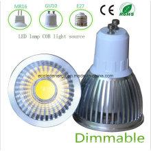 Dimmable 5W White GU10 COB LED Light
