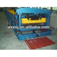 Panel de azulejo del metal que forma la máquina