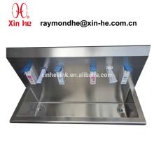 Edelstahl-Waschtrog für Krankenhaus, chirurgische Scrub Sink mit Sensor Wasserhähne