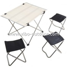 Outdoor folding table and chair sets