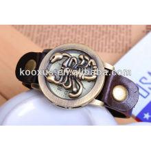 Correa de cuero de la pulsera del reloj de cuero de la venda del reloj de cuero KSQN-08
