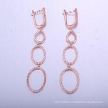 descobertas de jóias exclusivas brincos longos sexy com rosa banhado