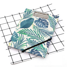 Leaves style A5 clipboard with notebook