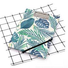 Folhas estilo A5 prancheta com caderno