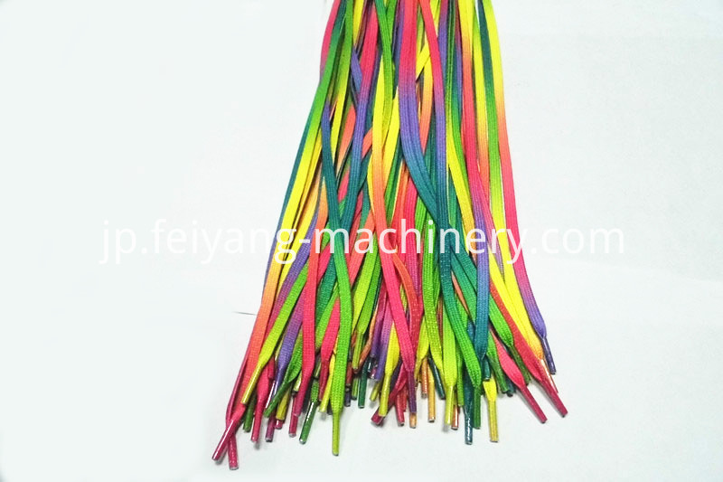 shoelace translucent tipping film