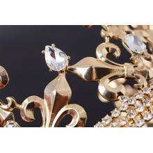 Gold Metal Flower-de-luce Pageant Tiaras