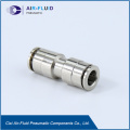 Air-Fluid Pneumatic Metal Push in Fittings Union Straight.