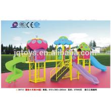 B0713 jardín de infancia niños colorido hongo Nuevo diseño de equipos de patio de recreo de plástico al aire libre