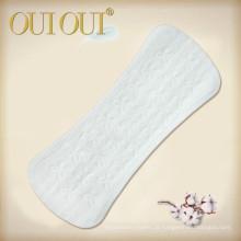 Forros de calcinha orgânicos naturais respiráveis embalados individualmente para adolescentes