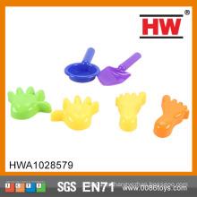(2 herramientas + 2 manos +2 pies) El juguete del verano de la alta calidad embroma las palas plásticas de la arena