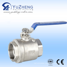 "1"" 2PC Stainless Steel Female Thread Ball Valve Supplier"