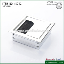 Cable de mesa de oficina de aluminio cuadrado cuadro de alambre