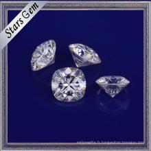 Top qualité bien poli E / F blanc couleur Moissanite pierres précieuses pour bijoux en or