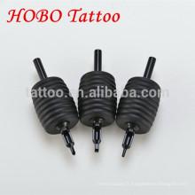 Tube jetable noir professionnel de tatouage de 38mm avec la pointe noire