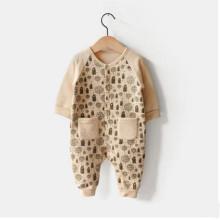 Combi-short en coton biologique d'hiver de vente chaude avec l'impression faite à partir de la Chine