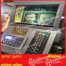 Registre las piezas de los colores para la inspección de la máquina de impresión / video