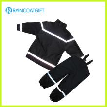 Reflective Boys PU Rainsuit Bavette pantalons imperméables