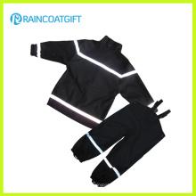 Boy′s réfléchissante d'unité centrale Rainsuit Bib pantalon imperméable