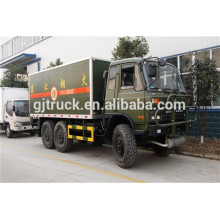Dongfeng 6X6 all drive van truck with loading capacity 18-25cbm