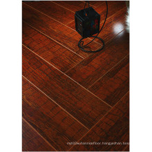 12.3mm E1 HDF Mirror Walnut Sound Absorbing Laminated Flooring