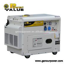 Generador diesel silencioso de la fábrica 5kva del generador de Taizhou con el ATS para la venta