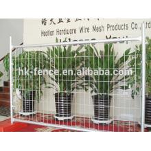 Hochwertiger Power-Coating oder PVC-beschichteter temporärer Zaun