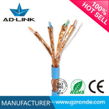 Cat 7 Flat Lan Cable with Four-pair 32AWG Wire and RJ45 to RJ45 Connection