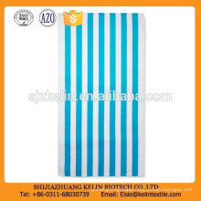 30*60 Advertising gift turquoise Cabana stripes microfiber beach towel