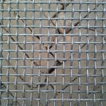 Panneau galvanisé de treillis métallique serti