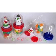 Papai Noel e boneco de neve com doces (110819)