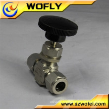 "1/2"" tube OD ferrule connection propane gas stainless steel 316 needle valve"