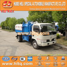 5m3 dongfeng side loader garbage collector truck exported to Africa