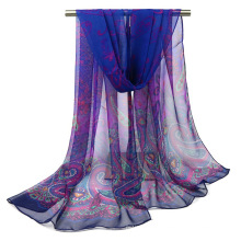 Mode été protection noix de cajou foulard imprimé écharpe femmes léger georgette hijab écharpe