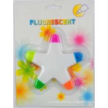 Fluorescent Highlighter Marker in Star
