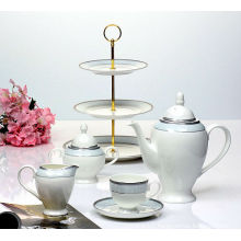 2014 new product bone china coffee set cake stand set