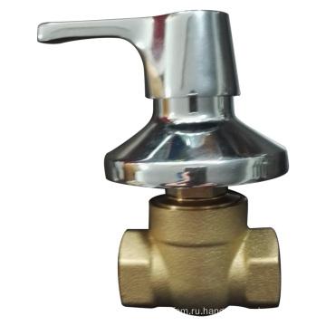 Латунный клапан с хромированной пластиной