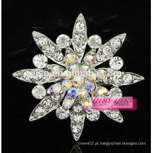 Broche de flor de liga de diamante de personalidade