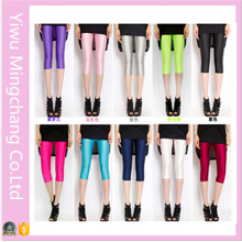 2016 New Design Summer Plus Size Colorful Soild Girl′s Stretch 3/4 Pants