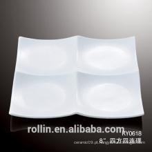 Janpanese porcelana Sushi dividido placas molho pratos