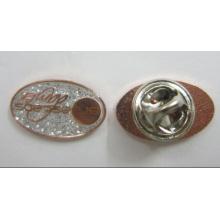Pin en laine latérale en laiton de 1 pouce avec paillettes et époxy (badge-067)