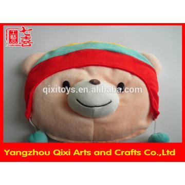 New design plush animal shape hot water bag rechargeable winter hand warmer cute teddy bear head electric hot water bag