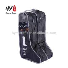 Novo design saco de sapato não tecido com janela de pvc