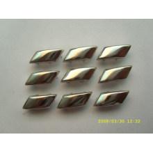 Brads métalliques avec des banderoles à glitter scrapbooking en argent / or / bronze