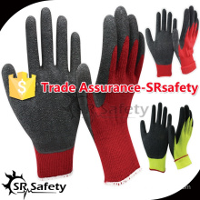 SRSAFETY 10G nappy acrylic latex coated winter tactical gloves/thermal gloves