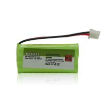 2.v AAA600mah Nimh batería para teléfono inalámbrico, luz de emergencia
