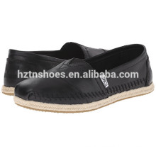 2016 Latest Style Leather Espadrilles Soft Low Heel Flat Shoes