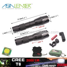 T6 /10W-2000 Lumens, Rechargeable Tactical LED Flashlight