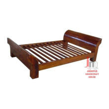 Natural Wood Double bed