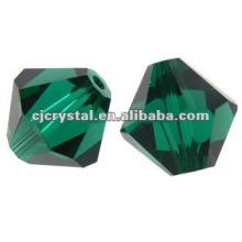 4mm Peridot Crystal Bicone, Crystal Bicone Cuentas